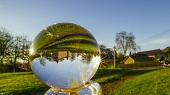 Castle in Crystall Ball (YᗩSᗰIᘉᗴ HᗴᘉS +15 000 000 thx) Tags: cristal crystal bouledecristal crystalball laowa 12mm landscape hensyasmine yasminehens namur belgium