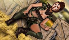 Army girl (meriluu17) Tags: masoom army war tattoo dry grass tank