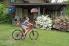 yardbike2018a (FAIRFIELDFAMILY) Tags: arts crafts bungalow craftsman architecture porch sunglasses sky azaleas solo star wars movie poster bike bicycle riding stone granite flowers yard winnsboro sc south carolina fairfield county cool pretty house home face portrait backyard pecan tree child boy young old jason taylor carson grant