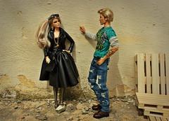 A-Z Challenge G - Grunge and Glamour (saratiz) Tags: grunge glamour barbie barbiemarmaid kenharleydavidson black sunglasses tatoos