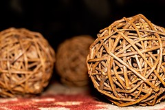 More Wicker Balls (hoffler_pictorials) Tags: hofflerpictorials stilllife bokeh perspectives floor rug wood brown decorations wicker balls ilcea6300 epz18105mmf40 sonyglens emountlenses