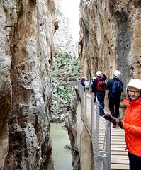 Caminito (sakarip) Tags: caminitodelrey mountain sakarip path rock people woman water malaga andalucia spain