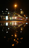 Czech Tram Reflections (gooey_lewy) Tags: mini moon prague praha czech republic cz tram reflections puddle water light dark night shot route 5 skoda electric