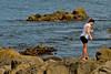 girl-1 on the rocks (glasnevinz) Tags: newzealand wellington wahinememorialpark palmerbay rocks