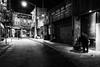 DSCF5187 (G. L. Brown) Tags: 2017 chinatown newyork night noir streetphotography signage blackandwhite bw