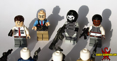 Payday 2 Enemies (Saber-Scorpion) Tags: lego minifig minifigures minifigs minifigure moc brickarms brickwarriors payday payday2 heist bankrobbery swat securityguard securityguards