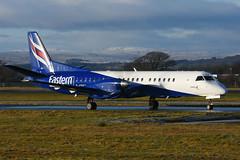 G-CDKB Saab 2000 EGPH 28-12-17 (MarkP51) Tags: gcdkb saab 2000 easternairways t3 eze glasgow airport gla egpf scotland aviation aircraft airplane plane image markp51 nikon d7200 sunshine sunny aviationphotography