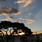 Fall sunset from my roof, SCS, São Paulo, Brazil. thumbnail