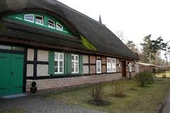 Schlosspark  Putzar IMG_2718 (nb-hjwmpa) Tags: putzar fachwerkhaus reetdach schlosspark vorpommern fachwerk