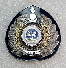 Mongolia Police (Sin_15) Tags: mongolian mongolia badge insignia police hat beret cap law enforcement emblem
