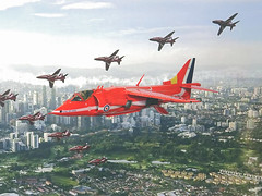 "1:72 Hawker Siddeley ""Harrier"" GR.1, aircraft ""XV 764"" of the ""Red Arrows"" Royal Air Force Aerobatic Team, summer 1980 (Whif/Fujimi kit) (dizzyfugu) Tags: 172 hawker siddeley harrier gr1 jump jet red arrows areobatic team display uk british royal air force der eighties 80s whif whatif model kit modellbau fujimi dizzyfugu fictional aviation"