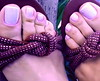 (pbass156) Tags: toes sandals feet footfetish fetish paintedtoes jewels toering