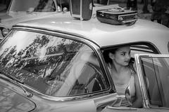 Vintage (joboss83) Tags: car 1960 pinup voiture rock n roll vintage radio femme girl bw nb belle fuji fujixt1 fujixt2 france var provence