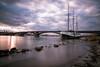 Mainz/Theodor-Heuss-Brücke (klaweb52) Tags: segelschiff brücke sonnenuntergang sunset langzeitbelichtung