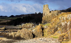 Dunure Castle from the beach at Dunure,South Ayrshire in the last of the days light. 18/3/18. (BS Images.) Tags: dunure castle ayrshire southayrshire scotland ayrshirelandscapes
