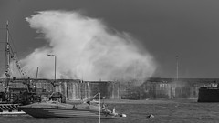 Bridlington Storm (GIgaYork) Tags: storm bridlington yorkshire coast waves massive splash harbour wall sea water crashing rough storms seas crashes hurricane gales galeforcewinds stormyseas bigwaves massivewaves