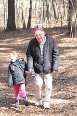 Walking at Mirror Lake - 11 (Keppyslinger) Tags: wisconsin nature mirrorlake woods family tree walkingwithdad dad daughter