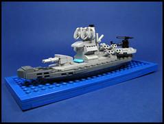 Coastal Defence Ship (Karf Oohlu) Tags: moc lego ship navalvessel coastaldefence microscale