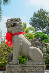 Lion statue at the Chinese temple (phuong.sg@gmail.com) Tags: ancient animal antique architecture art artistic asia asian background ball beautiful beijing china chinese city culture design detail dragon forbidden green grunge head history idea lion luck old oriental ornament park power religion rock sculpture statue stone structure symbol taiwan temple tour tourist traditional travel