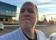 Day 2266: Day 76: Parking lot (knoopie) Tags: 2018 march iphone picturemail doug knoop knoopie me selfportrait 365days 365daysyear7 year7 365more day2266 day76 eisenhowerhighschool yakima