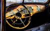 39,251 and Done (jtr27) Tags: dscf8107xl jtr27 fuji fujifilm fujinon xt20 xtrans xf 35mm f2 f20 rwr wr chevy chevrolet antique vintage abandoned junk interior steeringwheel dashboard maine newengland