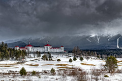 Mount Washington Hotel (Frank C. Grace (Trig Photography)) Tags: jefferson newhampshire unitedstates us bretton newengland hotel inn haunted paranormal paranormalactivity legendtripping mountains mountwashington stormy clouds cloudporn snow winter winterwonderland theprincess carolynstickney princessroom ghosthunters frankcgrace trigphotography hdr nikon d850