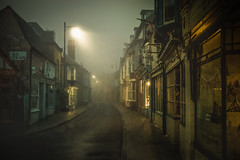 walking the Whitstable way....Harbour street (stocks photography.) Tags: leica michaelmarsh whitstable street misty foggy atmospheric cinematic harbourstreet