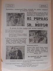 """Panfleto de publicidade ao file """"As Pupilas do Sr. Reitor"""" (ACMateus) Tags: antiguidades coleccionismo velharias publicidade panfleto"""