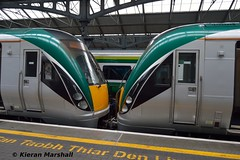22001+22002 at Heuston, 31/3/18 (hurricanemk1c) Tags: railways railway train trains irish rail irishrail iarnród éireann iarnródéireann dublin heuston 2018 22000 rotem icr rok 3pce 22001 22002 1120heustonhazelhatchandcelbridge