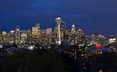 Seattle skyline Kerry Park (FFWoodycooks) Tags: space needle key arena columbia tower buildings towers night