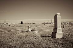 (cutthroatsrule) Tags: comanche montana elevator sepia monochrome grave headstone cemetery prairie