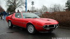 Alfa Romeo Montreal 1972 (XBXG) Tags: dn733ks alfa romeo montreal 1972 alfaromeomontreal alfaromeo ar bertone coupé coupe red rood rouge 31ème salon champenois du véhicule de collection belles champenoises 2018 époque reims marne 51 grand est grandest champagne ardennes france frankrijk vintage old classic italian car auto automobile voiture ancienne italienne italie italia italy vehicle outdoor