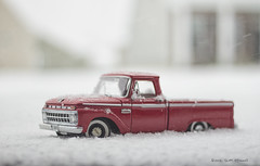 Snow Day (scottnj) Tags: 365the2018edition 3652018 day80365 21mar18 scottnj scottodonnellphotography truck snow winter ice icy cold ford fordf100 red colorful pickuptruck wintertime snowstorm snowinthenortheast snowinnewjersey snowplowing modeltruck blizzard flurry flurries