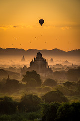 Misty Morning Sunrise at Myanmar. (tehhanlin) Tags: anandatemple bagan burmese chinstate htilominlotemple mindatdistrict monks myanmar pagodas rangoon shwedagon shwesandaw shwezigon tatooedface thatbyinnyutemple tribes yangon sony sonyilce7 ngc landscape sunset sunrise misty places place culture
