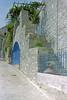 chios (annelies_visser) Tags: historie poort deur straat old oud muur blauw druiven grapes