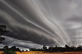 Spectacular storm clouds