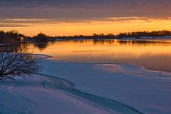 St. Lawrence River Sunrise (Richard Pilon) Tags: ice ontario cornwall canon powershot river stlawrenceriver sunrise