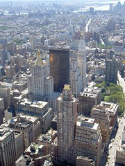 Manhattan view from top of the empire statebuilding (cfdtfep) Tags: newyork manhatten southmanhattan view süden südmanhattan blick empirestatebuilding usa unitedstatesofamerica