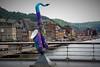 a Sax in Dinant. (Johan Moerbeek) Tags: sax saxofoon saxophone dinant sx50hs canon brug bridge maas river rivier