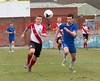 John Cunningham in a race for the bouncing ball (Stevie Doogan) Tags: clydebank gartcairn west scotland cup round 2 holm park saturday 31st march 2018