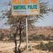 Police billboard in the the las geel area, Woqooyi Galbeed region, Hargeisa, Somaliland