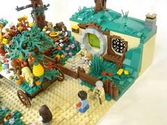 Shire seasons festival - hobbit hole (fdsm0376) Tags: moc brickpirate bpchallenge lego lord rings lotr hobbit shire festival season castle medieval fantasy