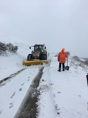 Snowplough clears the road 18Mar18
