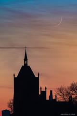 Crescent Moon (Piotr Potepa) Tags: moon moonset crescent night sky skyline nightsky nightscape nightscapes poland piotrpotepa