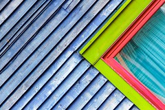 Bright Colours (Karen_Chappell) Tags: building house green pink tilt angle window clapboard jellybeanrow stjohns newfoundland architecture home lines abstract city urban angles blue colourful multicoloured colours colour color atlanticcanada canada