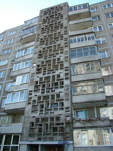 Орнаменты на многоэтажках в Калининграде ©  ayampolsky