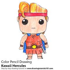 Kawaii Hercules (drawingtutorials101.com) Tags: kawaii hercules characters character kawaiis how draw color pencil pencils chibi drawings drawing with speed