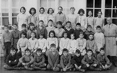 Class photo (theirhistory) Tags: children kids boys school girls teacher coat jumper trousers wellies dress shoes boots