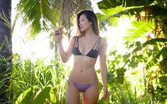 Jen (Hawaiian Imagery) Tags: d600 50mm model portrait landscapeportrait bikini jungle nature forest palm hawaii oahu northshore