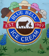 Brenham's finest (steverichard) Tags: icecream gelato food cold bluebell girl cow visual graffito mural brenham texas icecreamcone dairy cream